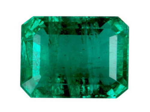 Emerald Cushion Cut Faceted 1.99 Carat