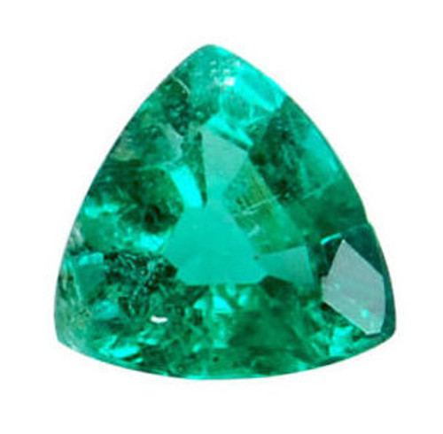 Emerald Trillion Cut 0.39 Carat
