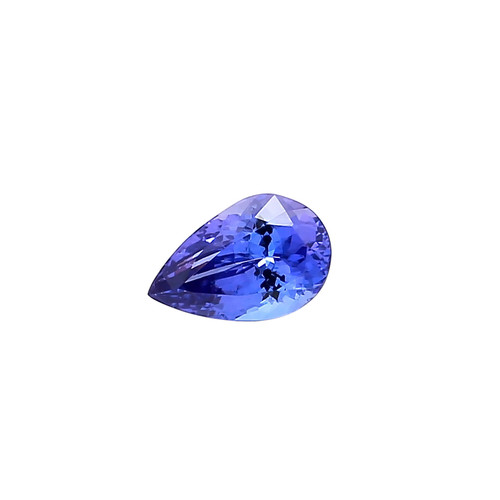 Blue Tanzanite Pear Faceted 8X12 mm 3.25 Carats GSCTZ0001