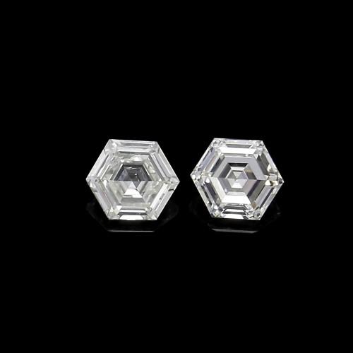 Natural Diamond GH VS Hexagon 0.3 & 0.34 ct Pair GSCND0001