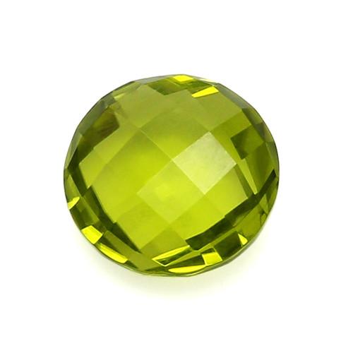 Peridot Round Faceted Briolette 9x9 GSCPE0006  3.15 ct.