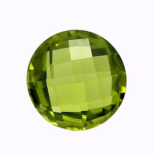 Peridot Round Faceted Briolette 10x10 GSCPE0004 4.21 ct.