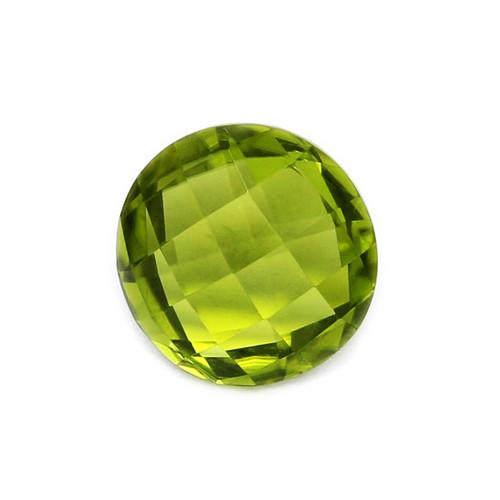 Peridot Round Faceted Briolette 10x10 GSCPE0009 4.06 ct.
