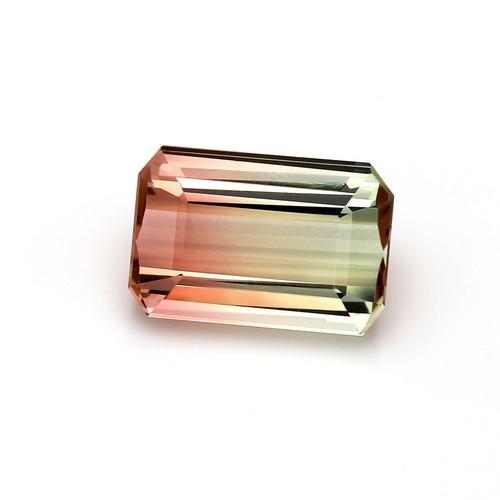 Bi-Color Tourmaline Octagon Faceted 17 x 11 mm 14.84 Carat GSCTO127