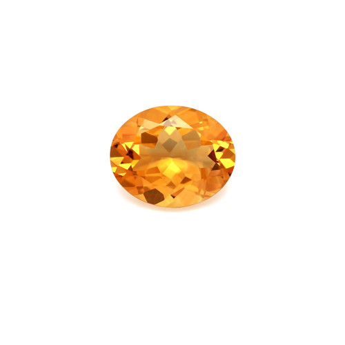 Citrine Oval Faceted 10 x 12 mm 3.86 Carat GSCCI016