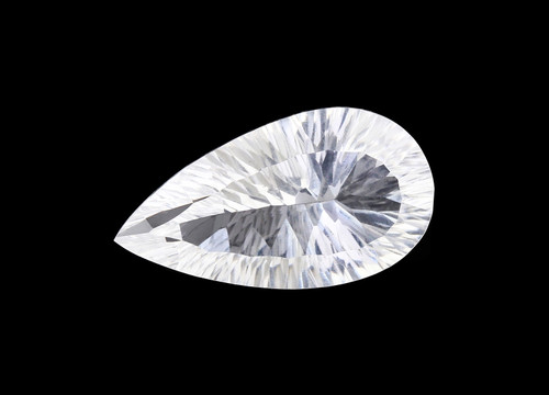 Crystal Pear Concave 12 x 22 mm 10.54 Carats GSCCRY003