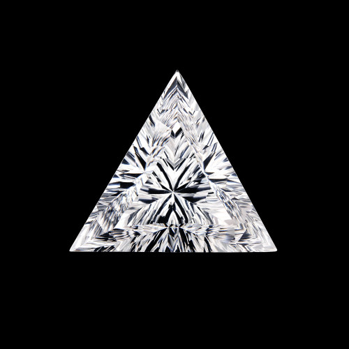 Crystal Fancy Cut Pyramid Concave  22 x 22 mm 26.29 Carats GSCCRY008