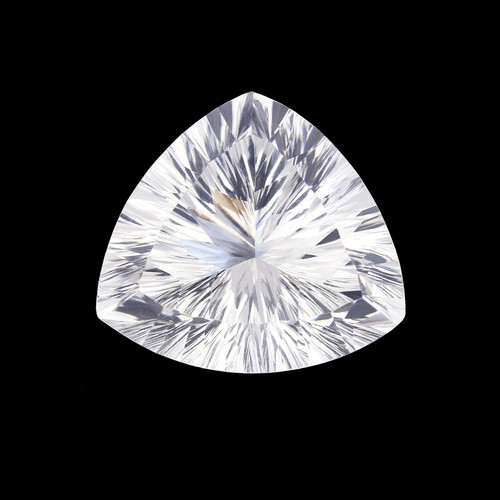 Crystal  Fancy Cut Trillion Concave 21 x 20 mm 27.73 Carats GSCCRY011