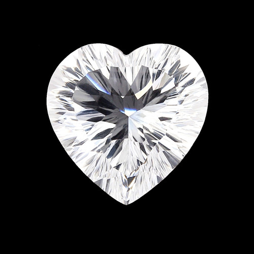 Crystal  Heart  Check top with  Flower Cut Culet 16 x 16 mm 13.39 Carats GSCCRY015