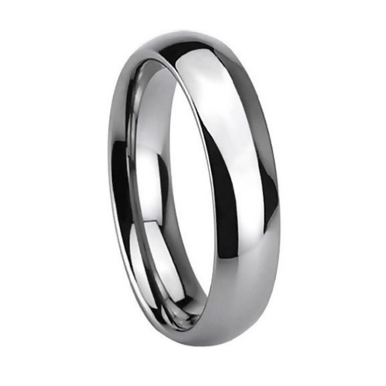 Tungsten Ring for Women, Classy Ring, High Polish Chrome Finish, 5MM