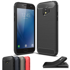 Slim Samsung Galaxy J2 Pro 2018 Carbon Fibre Soft Case Cover J250 G/FD