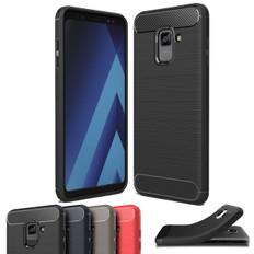 Slim Samsung Galaxy A8 2018 Carbon Fibre Soft Carbon Case Cover A530