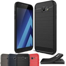 Slim Samsung Galaxy A7 2017 Carbon Fibre Soft Carbon Case Cover A720