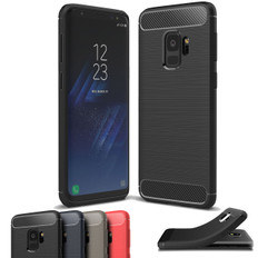 Slim Samsung Galaxy S9 Phone Carbon Fibre Soft Carbon Case Cover G960