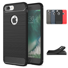 Slim iPhone 8 Plus 7 Pls Carbon Fibre Soft Case Cover Apple 8+ 7+