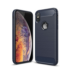 Slim iPhone Xs Max Shockproof Soft Carbon Case Cover Apple Skin XsMax