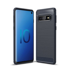 Slim Samsung Galaxy S10 Carbon Fibre Soft Carbon Case Cover S 10 G973