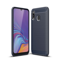 Slim Samsung Galaxy A20 2019 Carbon Fibre Soft Carbon Case Cover A205