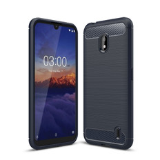 Slim Case For Nokia 2.2 Carbon Fibre Soft Cover