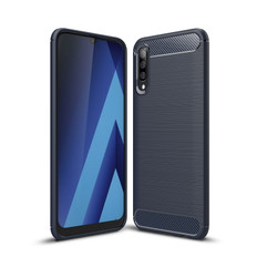 Slim Samsung Galaxy A50 Carbon Fibre Soft Carbon Case Cover A505