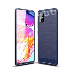 Slim Samsung Galaxy A51 Carbon Fibre Soft Carbon Case Cover A515