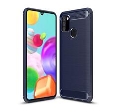 Slim Samsung Galaxy A21s 2020 Carbon Fibre Soft Carbon Case Cover A217