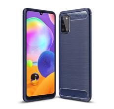 Slim Samsung Galaxy A31 2020 Carbon Fibre Soft Carbon Case Cover A315