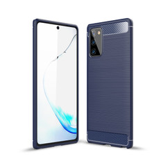 Slim Samsung Galaxy Note20 4G 5G Carbon Fibre Soft Case Cover Note 20