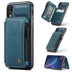 CaseMe Shockproof iPhone XR PU Leather Case Cover Zipper Wallet Apple