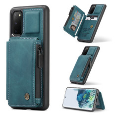 CaseMe Shockproof Samsung Galaxy S20 Leather Case Cover Zipper Wallet