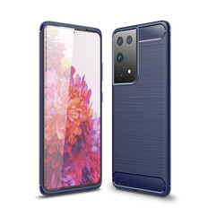 Slim Samsung Galaxy S21 Ultra 5G Carbon Fibre Soft Case Cover G998
