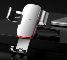 Baseus Gravity Mobile Phone Car Holder CD Slot Mount - Metal Age Style