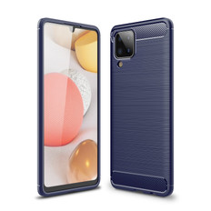 Slim Samsung Galaxy A12 Carbon Fibre Soft Carbon Phone Case Cover A125