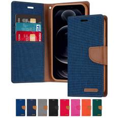 Goospery iPhone 12 Pro Canvas Fabric Flip Wallet Case Cover Apple