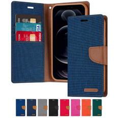 Goospery iPhone 12 Pro Max Canvas Fabric Flip Wallet Case Cover Apple