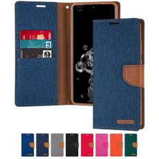Goospery Samsung Galaxy A12 Canvas Fabric Flip Wallet Case Cover A125