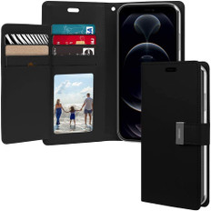 Goospery iPhone 12 Pro Flip Wallet Case Cover Extra Card Slots Apple