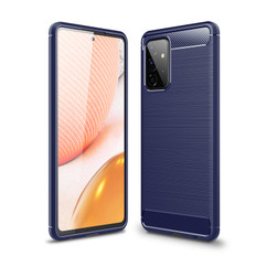 Slim Samsung Galaxy A72 4G 5G Carbon Fibre Soft Case Cover A725 A726