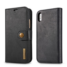 iPhone X Xs Detachable Classic Wallet PU Leather Case Cover Apple