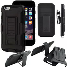 Apple iPhone 4 4S Shockproof Heavy Duty Case Cover Belt Clip Kickstand