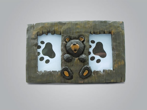 Bear Double Picture Frame