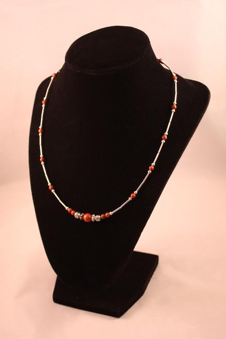 Red Jasper Single Strand Necklace