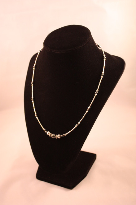 Hematite Single Strand Necklace