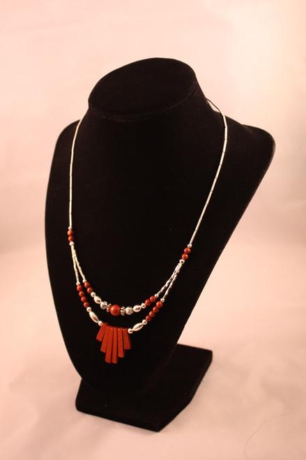 Native American Jewelry ~ Red Jasper Necklace