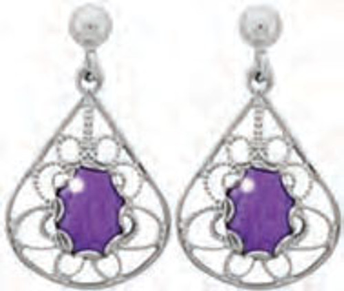 Lab Charoite Earrings