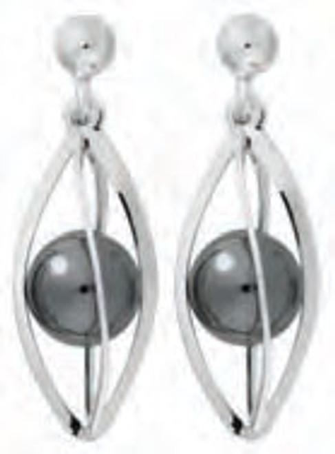 Hematite Earrings in silver