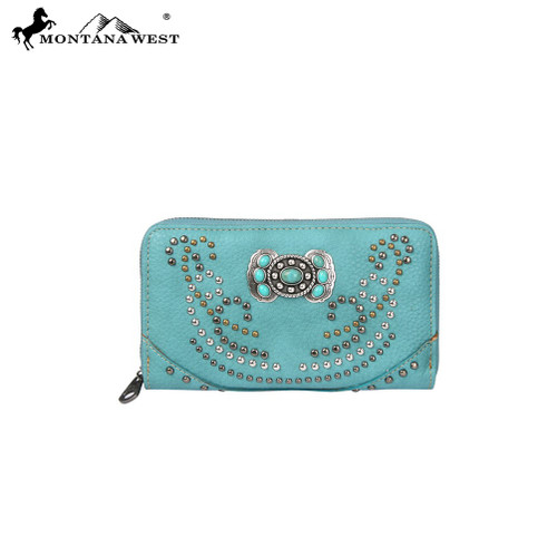 Concho Collection Wallet - Turquoise