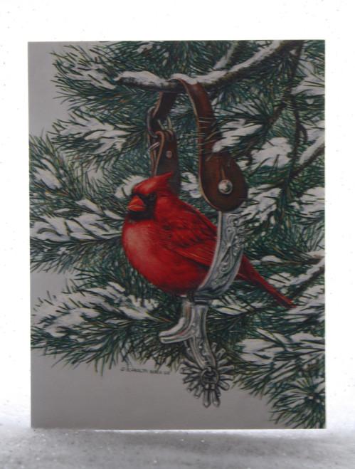 Cardinal in Stir-up Christmas Card