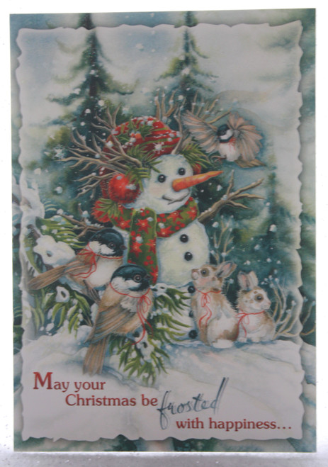 May your Christmas be frosted....
