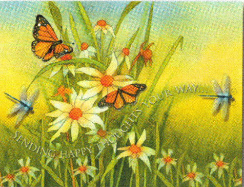 Note Card - Sending happy thoughts your way...